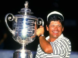 Lee Trevino with Trophy