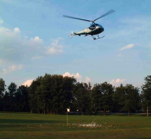 helicopter golf ball drop