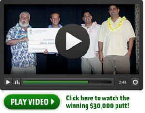 Combination Putting Contest Winner - Mark Hamer