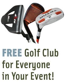 Free Golf Club coupon For Everyone In Your Event from TeePrize.com