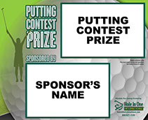 Free Putting Contest Sign