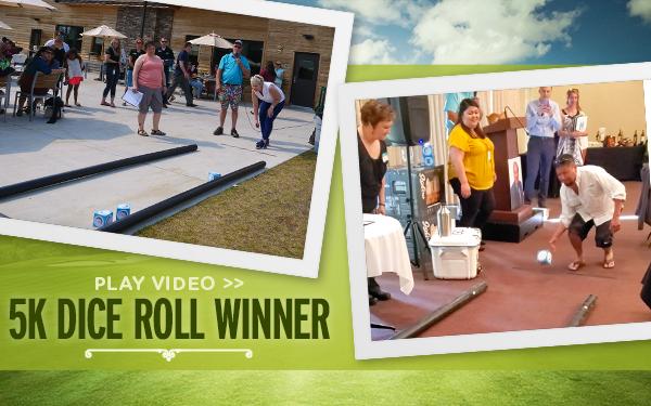 golf contest winner - dice roll