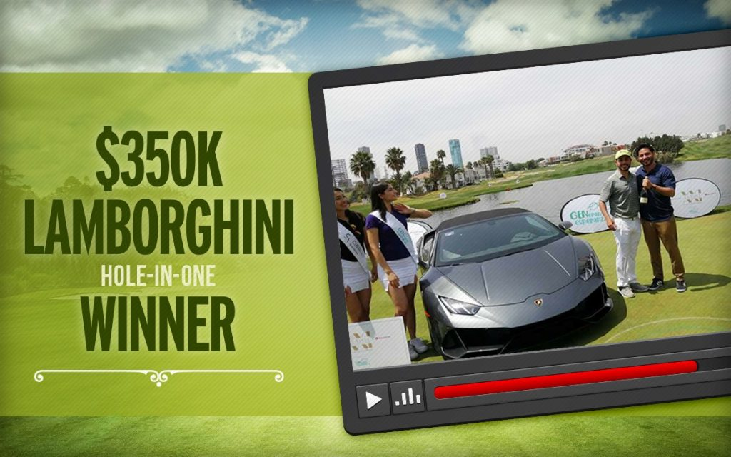 hole in one winner - lamborghini